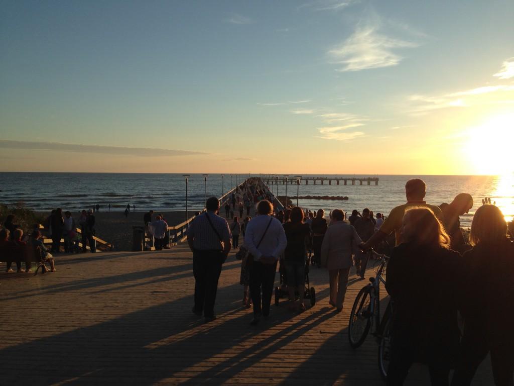Piren, ett populärt ställe att beskåda solnedgången