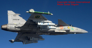 JAS 39A Gripen 39-101 with 4 Maverick AGM 65 missiles on Nato Py